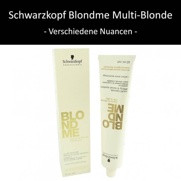 Schwarzkopf BLONDME multi-blond Aufhell und Tonersystem Haar Coloration 60ml - Blondme L Aufheller Basis-Creme / Crème base à éclaircir / Crema base schiarente