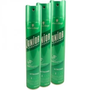 Schwarzkopf Junior Haar Spray 24h Halt + Schutz - 2 Strong - MULTIPACK 3x300ml