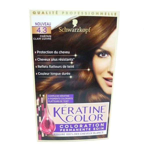 Schwarzkopf Keratin Color 4.3 hellbraun Kupfer permanent Coloration Haar Farbe