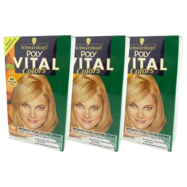 Schwarzkopf Poly Multipack 3x Vital Colors 32 savanna blond - Haar Coloration