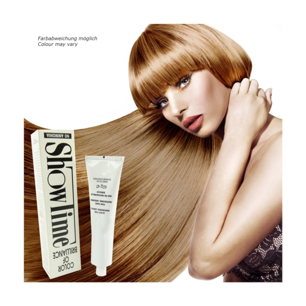 Showtime Color of Brilliance - Creme Haar Farbe Coloration ohne Ammoniak - 60g - # 8/1 Light Blonde Ash / Hellblond Asch