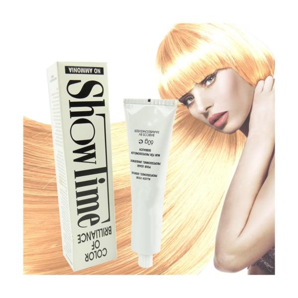 Showtime Color of Brilliance - Creme Haar Farbe Coloration ohne Ammoniak - 60g - # 6/34 Dark Blonde Gold Copper / Dunkelblond Gold Kupfer
