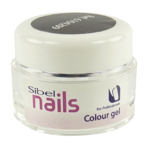 Sibel Nails Colour gel black Maniküre Nail Art Nagel Pflege Farbe schwarz 5ml