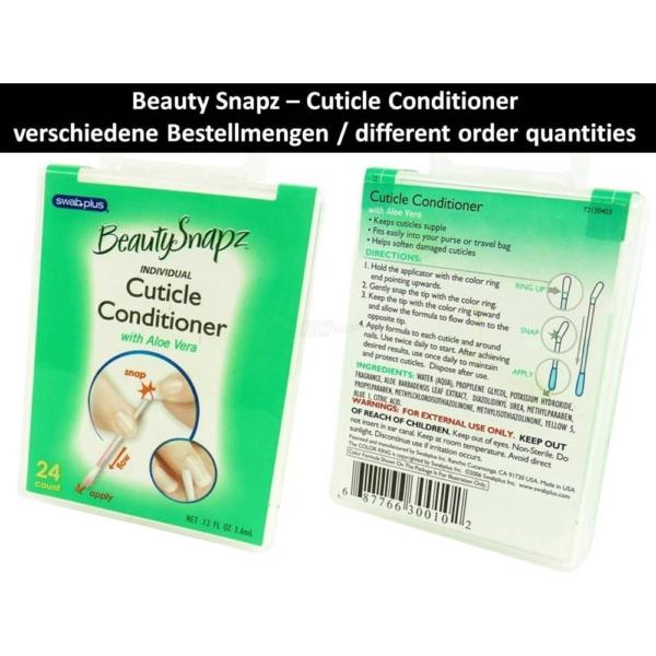 SwabPlus - Beauty Snapz - Nagel Haut Pflege - Cuticle Conditioner - Aloe Vera - 6-Pack
