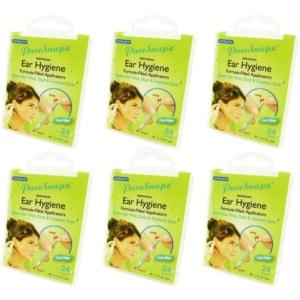 SwabPlus - Pure Snapz - Ear Hygiene Ohr Pflege Reinigung Reise Travel Multipack - 6-Pack