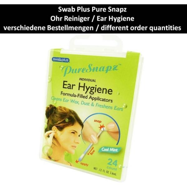 SwabPlus - Pure Snapz - Ear Hygiene Ohr Pflege Reinigung Reise Travel Multipack - 3-Pack