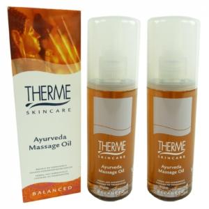 Therme Skincare Ayurveda Massage Öl - Körper Pflege Wellness MULTIPACK 2x125ml
