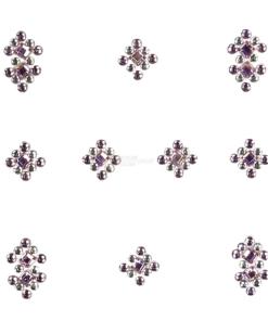 YOU Nails Nail Art Tattoo Design Nagel Aufkleber 3D Maniküre 1 Bogen 10 Sticker - Ornaments - white / pink