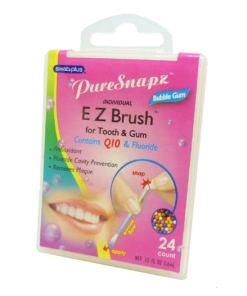 SwabPlus Pure Snaps EZ Brush Bubble Gum - Zahn Bürste Belag Reinigung Fluorid