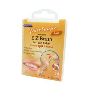SwabPlus Pure Snaps EZ Brush Orange - Zahn Bürste Belag Reinigung Fluorid