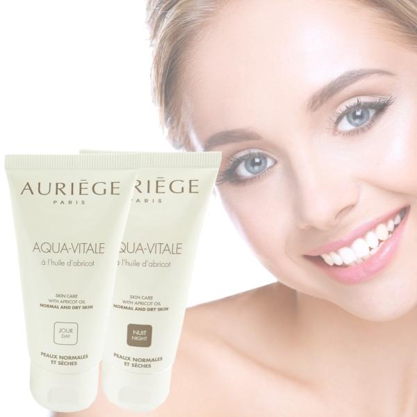 Auriege Paris - Aqua Vitale - Tages + Nacht Creme - 2x50ml - Gesicht Haut Pflege