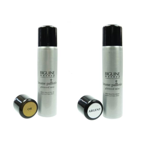 Biguine Glitzerspray Silber + Gold Körper Haar Spray 2 x 75ml - Make Up Pflege