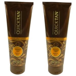 Body Drench Quick Tan Bronzing Lotion Medium Dark Körper Bräunung Creme Lotion - Multipack 2x236ml