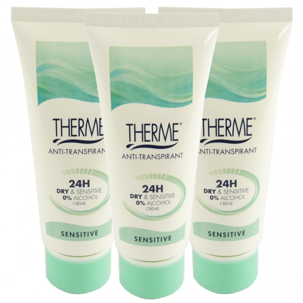 Therme Skincare Anti Transpirant 24h Dry + Sensitive Creme Deo Multipack 3x60ml