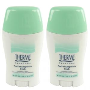 Therme Skincare Anti Transpirant Stick - Deodorant ohne Alkohol MULTIPACK 2x50g