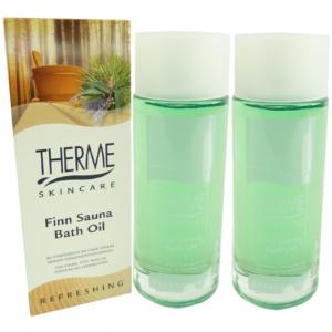 Therme Skincare Finn Sauna Bath Oil - Bad Öl Haut Pflege - MULTIPACK 2x100ml