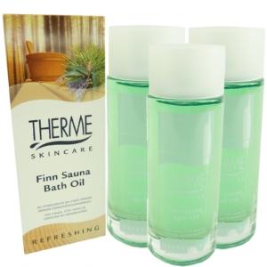Therme Skincare Finn Sauna Bath Oil - Bad Öl Haut Pflege - MULTIPACK 3x100ml
