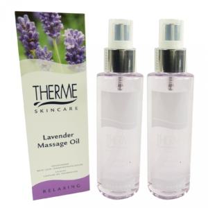 Therme Skincare Lavender Massage Öl - Körper Pflege Wellness MULTIPACK 2x125ml