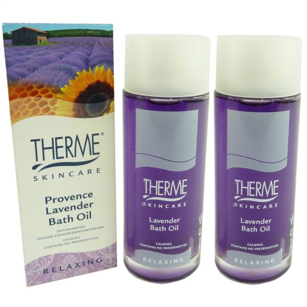 Therme Skincare Provence Lavender Bath Oil Bad Körper Pflege MULTIPACK 2x100ml