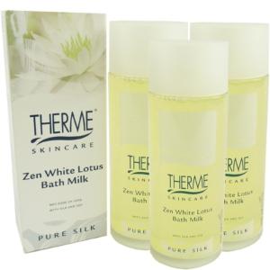 Therme Skincare Zen White Lotus Bath Milk - Körper Pflege Bad MULTIPACK 3x100ml