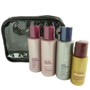 JOICO Reise Pflege Set - Coloriertes Lockiges Haar Shampoo Conditioner Öl 5tlg