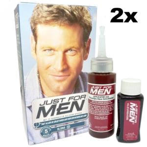 2x Multipack Just for Men 10 blonde Haar Farbe Pflege Tönung mit Entwickler