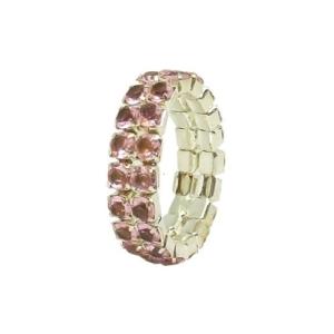Fing'rs Toe Ring #2343 v. Farben Fuß Schmuck Zehen Strass Ring Größe variabel - Rosa