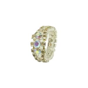Fing'rs Toe Ring #2343 v. Farben Fuß Schmuck Zehen Strass Ring Größe variabel - Silber