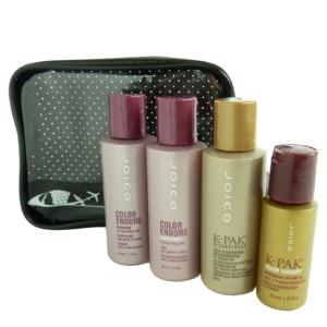 JOICO 5-teiliges Coloriertes Haar Pflege Reise Set - Shampoo Conditioner Öl Kur