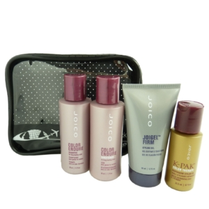 JOICO Reise Pflege Set coloriertes Haar Shampoo Conditioner Styling Gel Öl