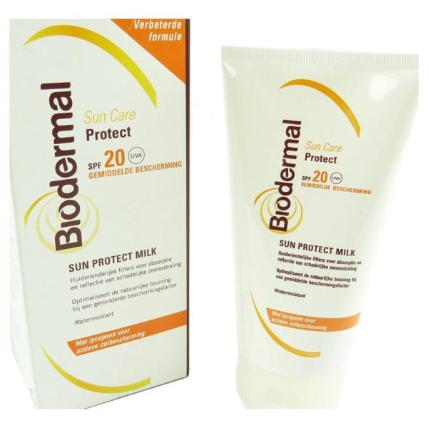 Biodermal - Sun Care - SPF 20 - Sonnen Milch - Schutz Creme Pflege - Wasserfest - 1 x 150 ml
