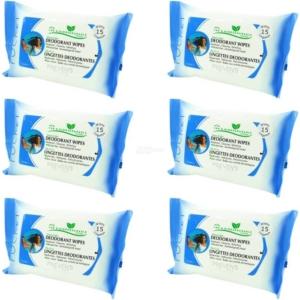 Preven's Paris Deodorant Bio Feuchttücher 24h Schutz Erfrischung für unterwegs - 6-Pack