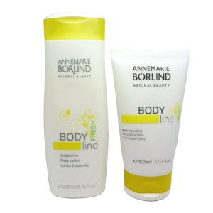 Annemarie Börlind Body Lind Lotion 200ml + Körper Peeling 150ml Haut Pflege