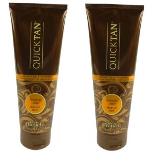 Body Drench Quick Tan Bronzing Lotion Medium Dark Körper Bräunung Creme Lotion - Multipack 2x236ml