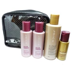 JOICO 5-tlg Haar Pflege Kur Reise Set - für Coloriertes und Geschädigtes Haar