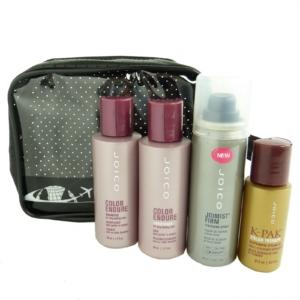 JOICO Reise Pflege Set coloriertes Haar Shampoo Conditioner Finishing Spray Öl