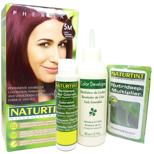 Phergal Naturtint 5M Mahagonie Kastanie Haar Coloration Farbe Set 165ml