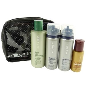 JOICO Reise Pflege Set für dünnes Haar Volumen Conditioner Haarschaum Öl