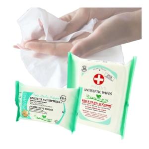 Preven's Paris Antiseptische Feuchttücher Set 2-tlg Reise Hygiene Desinfektion