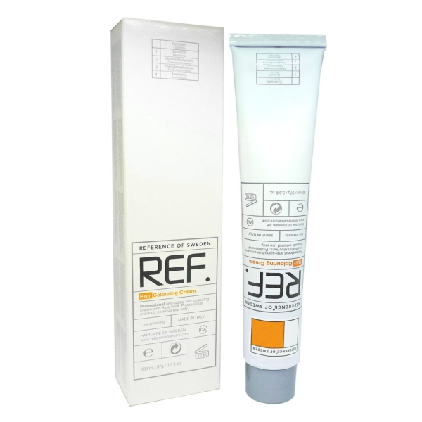 REF Reference of Sweden Farb Auswahl - Permanente Haar Coloration Creme - 100ml - 07.44 - Intense Copper Blonde