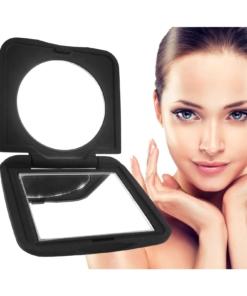 Revlon Klappbarer Reise Kosmetik Schminkspiegel schwarz matt