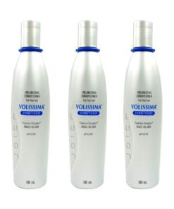 Joico Volissima Volimising Conditioner - Volumen Pflege Spülung feines Haar - 3 x 300 ml
