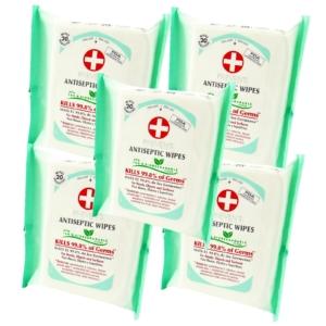 Preven's Paris - Antiseptische Feuchttücher Hygiene Desinfektion Multipack 5x