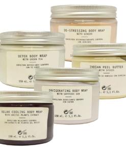 Skeyndor Body Wrap + Peel Butter Set Körper Haut Pflege Wellness 5x150ml
