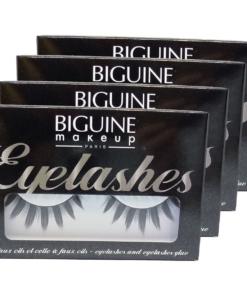 Biguine Make Up Paris Eyelashes 13304 Faux Cils Effet Plume Wimpern Multipack 4x