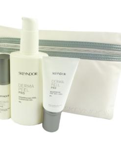 Skeyndor Kit Dermapeel Pro Emulsion Haut Pflege Reinigung Geschenk Set + Tasche