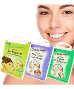 SwabPlus Beauty Snapz Beauty Set 3-teilig Nagel Lack Korrektur Ohr Stäbchen Pflege