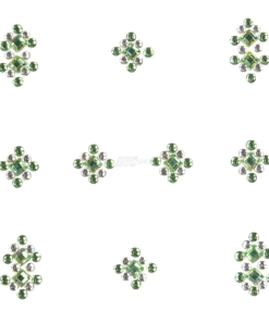YOU Nails Nail Art Tattoo Design Nagel Aufkleber 3D Maniküre 1 Bogen 10 Sticker - Ornaments - white / green