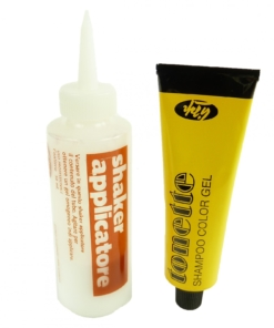 Lisap Tonette Shampoo Color Gel - Farbe Tönung + Aktivator + Haar Bad Pflege - C5 Light Ash Chestnut